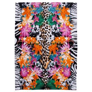 Tropical Animal Print Extra Wide Beach Towel