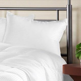 Superior Luxurious Down Alternative Striped Pillows (Set of 2)