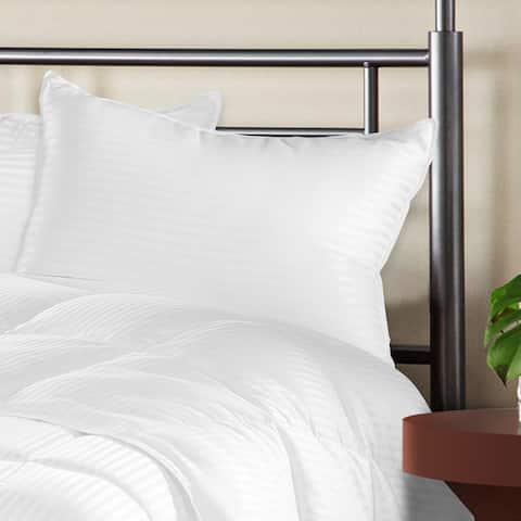 Miranda Haus Dublin Down Alternative Stripe Pillows (Set of 2) - White
