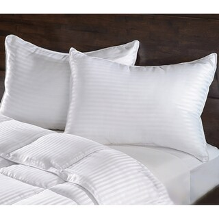 Superior Luxurious Down Alternative Striped Pillows (Set of 2) (2 options available)