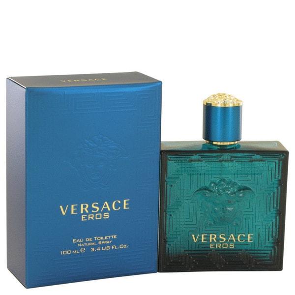 Shop Versace Eros Men s 3.4-ounce Eau de Toilette Spray - Free Shipping  Today - Overstock - 8262189 edee8915d9479