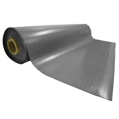 Rubber-Cal Block-Grip Rubber Flooring Rolls - 2mm thick x 4ft. Wide Rubber Rolls 3 Colors Available in 17 Lengths - 48 x 48