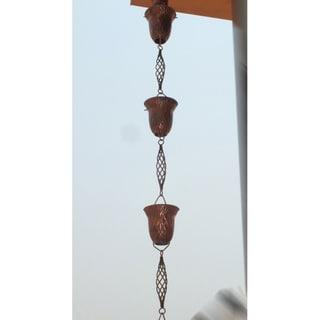 Monarch Pure Copper Pineapple Rain Chain 8.5-Foot Inclusive of Installation Hanger