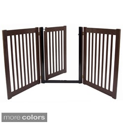 Highlander 32-inch Freestanding 3-panel Walk-through Pet Gate