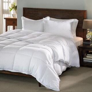 Superior All-season Stripe Down Alternative Hypoallergenic Comforter