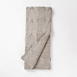 Michaela Gray Knitted Throw Blanket
