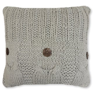 Michaela Gray Knitted Decorative Pillow
