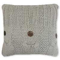 Michaela Gray Knitted Decorative Pillow