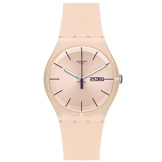 Swatch Women's Originals SUOT700 Pink Plastic Quartz Watch with Pink Dial