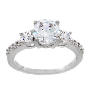 NEXTE Jewelry Sterling Silver Round-cut Cubic Zirconia Engagement-style Ring
