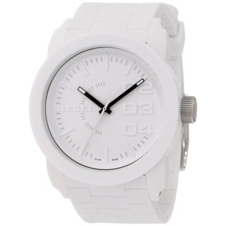 Diesel Men's DZ1436 White Silicone Quartz Watch with White Dial