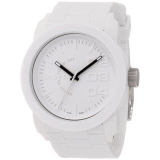 Diesel Men's DZ1436 White Silicone Quartz Watch with White Dial|https://ak1.ostkcdn.com/images/products/8262312/8262312/Diesel-Mens-DZ1436-White-Silicone-Quartz-Watch-with-White-Dial-P15586243.jpg?impolicy=medium