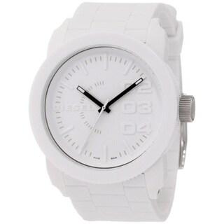 Diesel Men's DZ1436 White Silicone Quartz Watch with White Dial