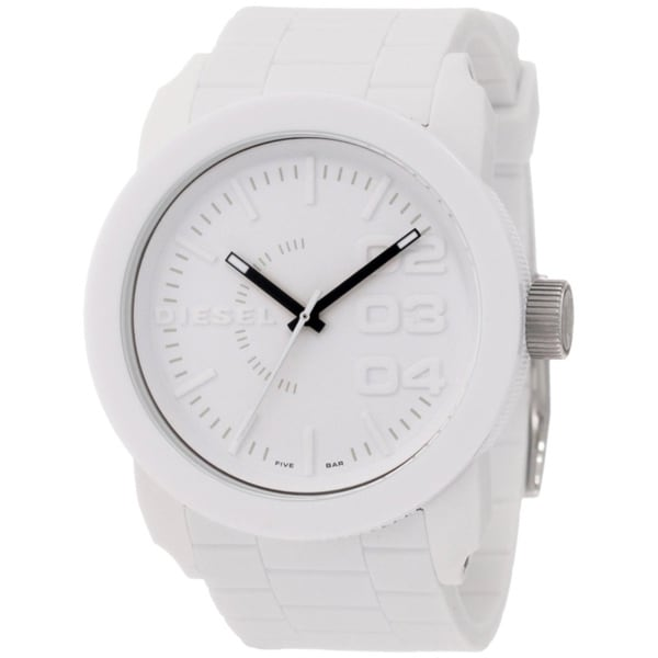 Shop Diesel Men's White Silicone Quartz Watch with White ...