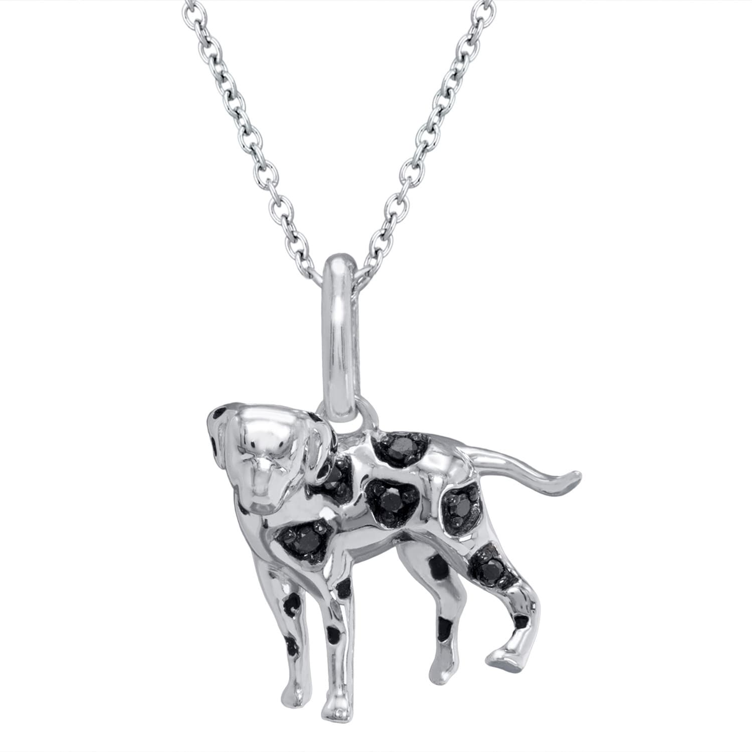 ASPCA Tender Voices Sterling Silver Diamond Accent Black ...