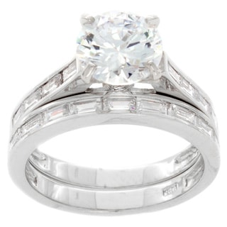 NEXTE Jewelry Sterling Silver Cubic Zirconia Bridal-style Ring Set