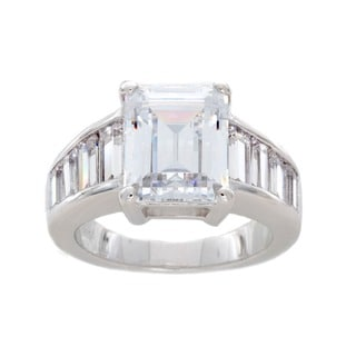 NEXTE Jewelry Sterling Silver Emerald Cut Cubic Zirconia Ring