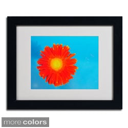 Kurt Shaffer 'Orange and Blue' Framed Matted Art