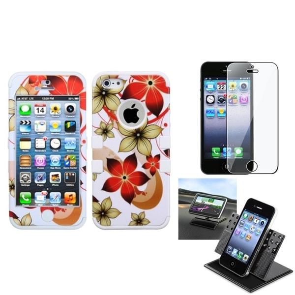 BasAcc Car Dashboard Holder/ TUFF Hybrid Case for Apple® iPhone 5