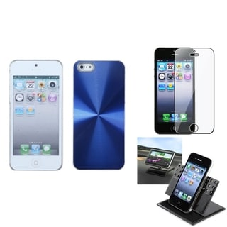INSTEN Car Dashboard Holder/ Cosmo Back Phone Case for Apple iPhone 5/ 5S/ SE