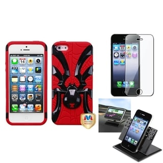 INSTEN Clear Screen Protector/ Spiderbite Hybrid Phone Case for Apple iPhone 5/ 5C/ 5S/ SE