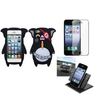 INSTEN Car Dashboard Holder/ Soft Silicone Phone Case for Apple iPhone 5/ 5S/ SE