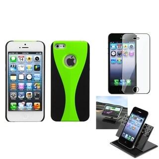 INSTEN Car Dashboard Holder/ Wave Back Phone Case for Apple iPhone 5/ 5S/ SE