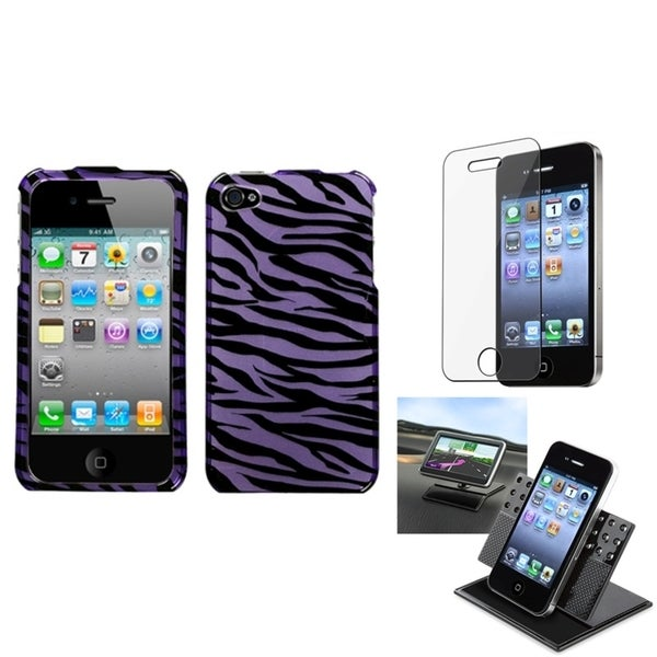 BasAcc Car Dashboard Holder/ Zebra Skin Case for Apple® iPhone 4/ 4S