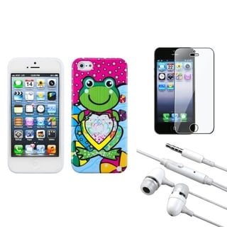 INSTEN Clear Screen Protector/ Headset/ Candy Skin Phone Case for Apple iPhone 5/ 5C/ 5S/ SE