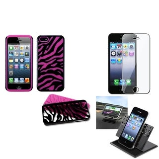 INSTEN Car Dashboard Holder/ Fusion Phone Case for Apple iPhone 5/ 5S/ SE