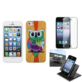 INSTEN Car Dashboard Holder/ Candy Skin Phone Case for Apple iPhone 5/ 5S/ SE