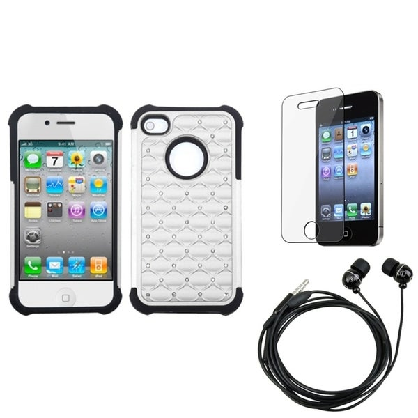 INSTEN Clear Screen Protector/ Headset/ Phone Case Cover for Apple iPhone 4/ 4S