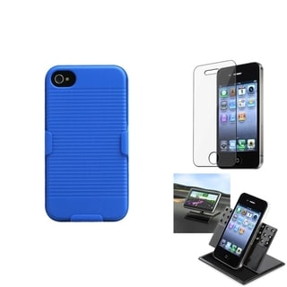 INSTEN Car Dashboard Holder/ Hybrid Holster for Apple iPhone 4/ 4S