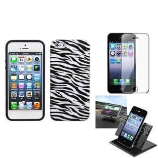 INSTEN Car Dashboard Holder/ Candy Skin Phone Case for Apple iPhone 5/ 5S/ SE