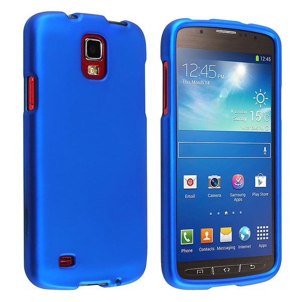 BasAcc Blue Rubber Coated Case for Samsung© Galaxy S4 Active i9295