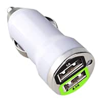 INSTEN Universal Dual USB Mini Car Charger Adapter for Apple iPhone 4S/ 5S/ 6