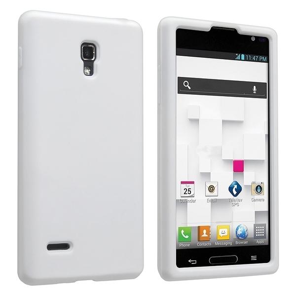 BasAcc White Silicone Skin Case for LG Optimus L9 P769