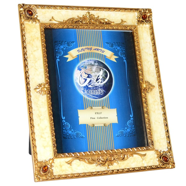 shop 11x13 inch gold marble picture frame free shipping on orders over 45 overstock 8262976. Black Bedroom Furniture Sets. Home Design Ideas