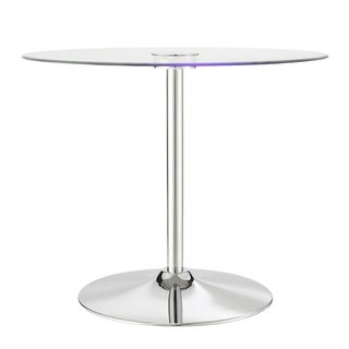 Lorin LED Round Dining Table iNSPIRE Q Modern - Silver