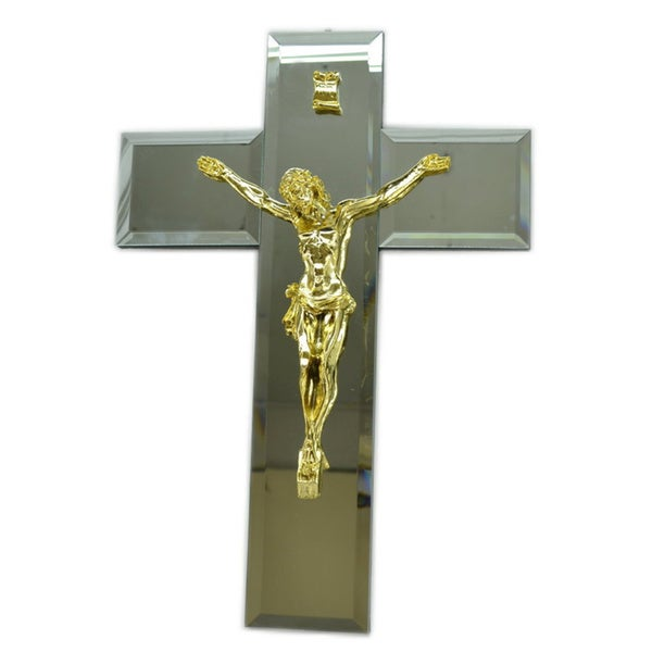 "16"" Gold Jesus on Cross"