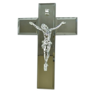 "16"" Silver Jesus on Cross"