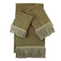 Sherry Kline Sage Green Fringed 3-piece Towel Set