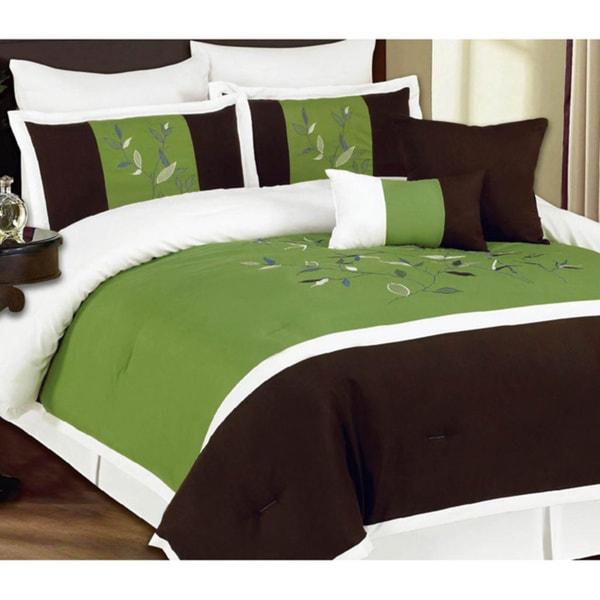 8-piece Regatta Green Luxurious Comforter Set