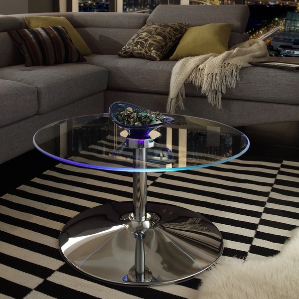 Led Coffee Table Set: Shop Lorin Cocktail Table Modern LED Accent Table INSPIRE