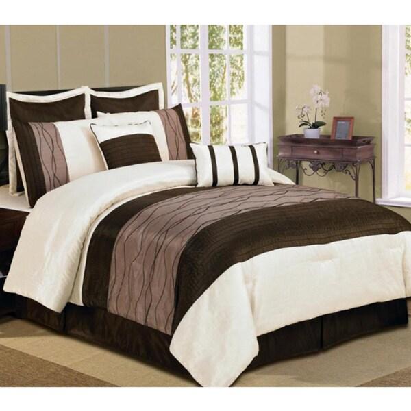 8-piece Clayton Beige Luxurious Comforter Set