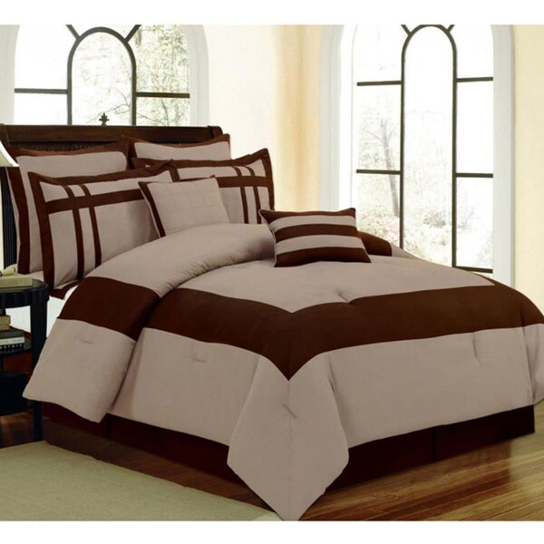 8-piece Liana Blue Luxurious Comforter Set