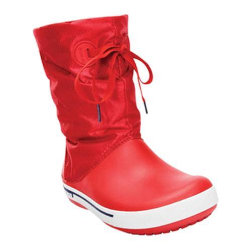 7390a1866ad99 Shop Women s Crocs Crocband II.5 Lace Boot Red Nautical Navy - Free  Shipping Today - Overstock - 8263212