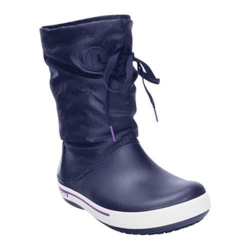Shop Women s Crocs Crocband II.5 Lace Boot Nautical Navy Neon Purple - Free  Shipping Today - Overstock - 8263213 f1c12f0fe75