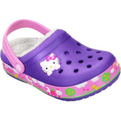 e6e69514f Shop Girls' Crocs Crocband™ Hello Kitty® Fair Lined Clog Neon Purple - Free  Shipping On Orders Over $45 - Overstock - 8263214