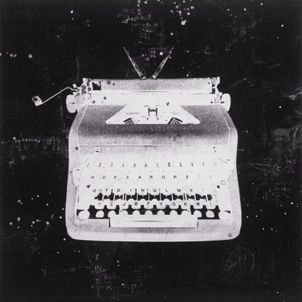 JB Hall 'White Typewriter'  Paper Print (Unframed)